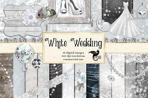 White Wedding Digital Scrapbook Kit