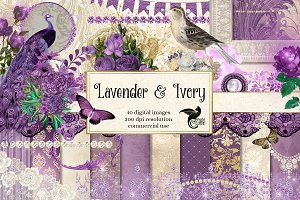 Lavender and Ivory Graphics