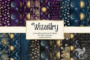 Wizardry Digital Paper & Clipart