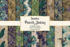 Peacock Fantasy Digital Paper