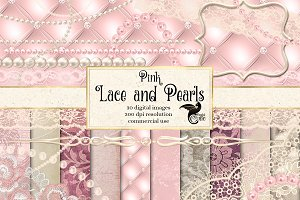 Pink Lace and Pearls Graphics