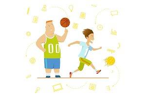 School children. Sport for kids