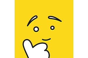 Smile icon template design. Show