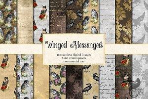 Winged Messengers Digital Paper