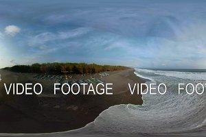 sandy beach near the ocean vr360