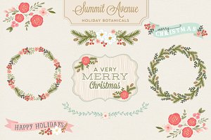 Holiday Botanical Vectors