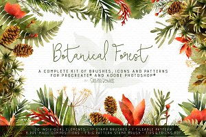 Botanical Forest - Brushes and Icons