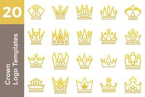 20 Logo Crown Templates Bundle