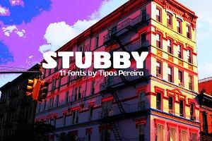Stubby Typeface