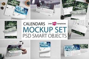 Calendar Mockup Set