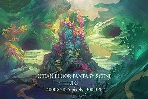 Fantasy ocean floor scene