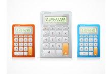 Vector colorful calculator set