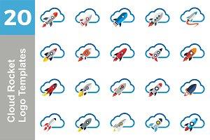 20 Logo Cloud Rocket Bundle