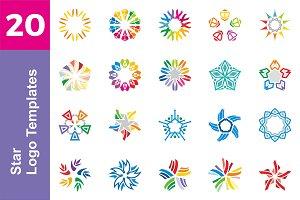 20 Logo Star Templates Bundl