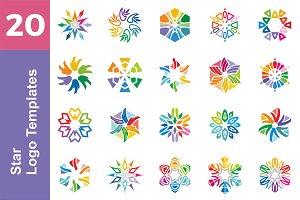 20 Logo Star Templates Bundle