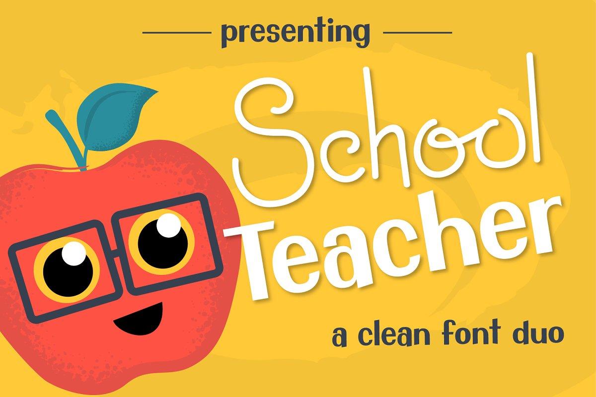School Teacher Font Duo