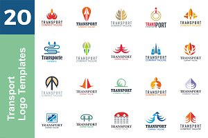 20 Logo Transport Templates Bundle