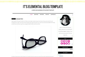 It's Elemental Blogger Template