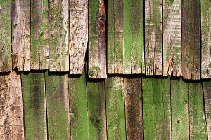 Old antique green wooden groung