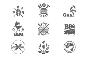 BBQ emblem. Barbeque logos