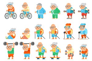Healthy lifestyle at an old age