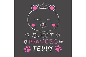 Cute bear princess.