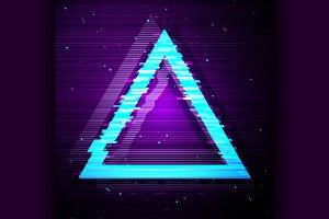 Glitched Triangle Design