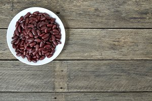 Canned Red Kidney Beans In  Bowl