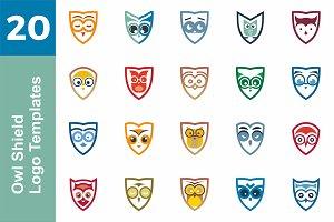 20 Logo Owl Shield Templates Bundle