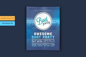 Boat Party Flyer PSD Template