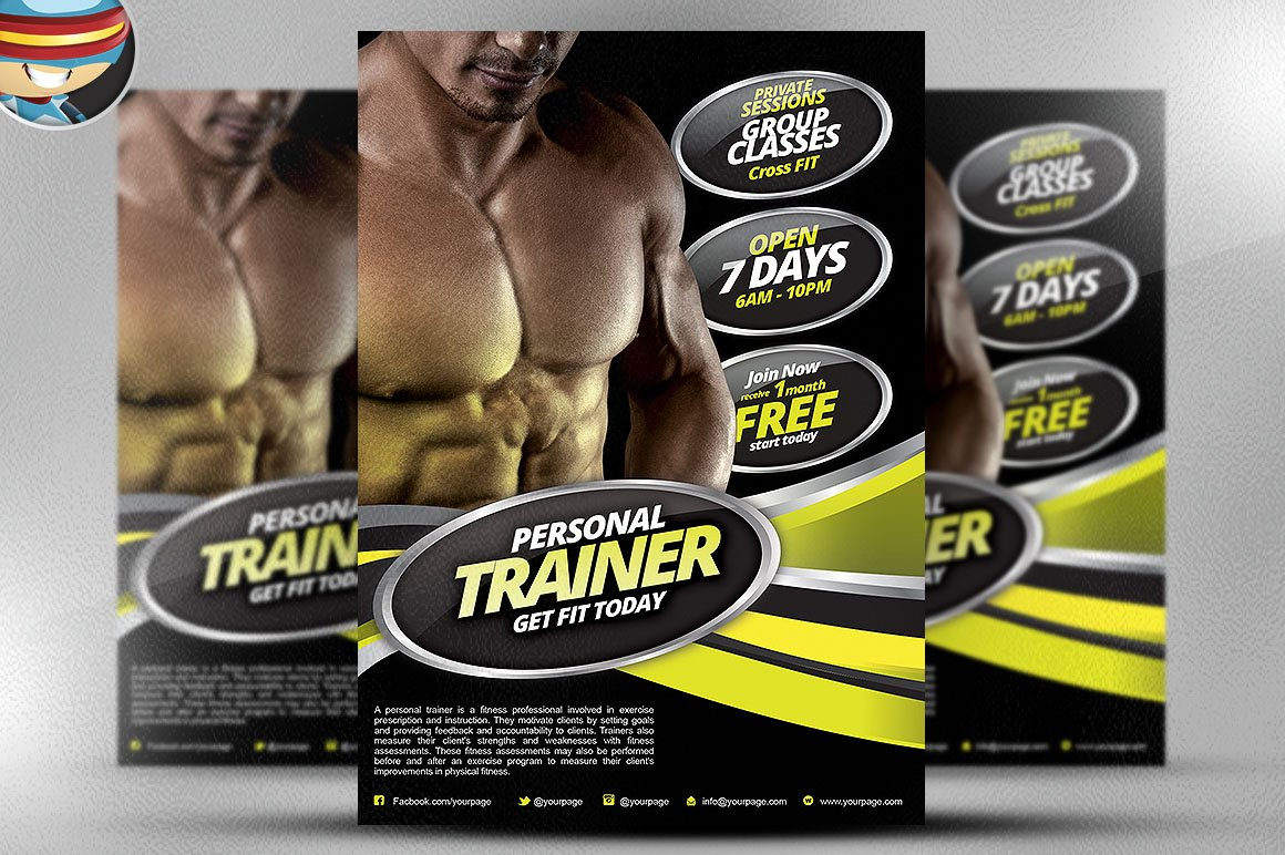 Personal Fitness Flyer Template Flyer Templates on Creative Market – Fitness Flyer Template