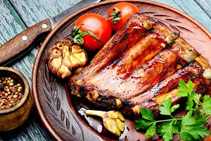 Tasty roasted ribs