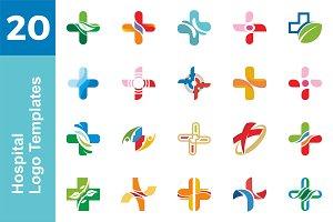 20 Logo Hospital Templates Bundle