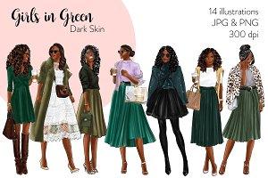 Girls in Green - Dark Skin