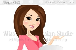 Blogging Girl 2- Character Graphic