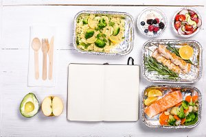 Healthy food delivery concept -