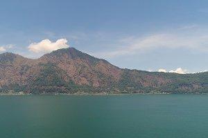 mountain landscape lake and sky