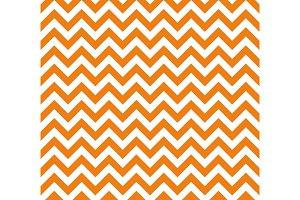 Orange and white Zig zag seamless