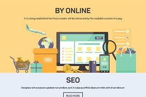 Banner - buying online and SEO