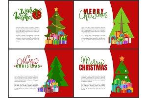 Merry Christmas Cards, Green Xmas