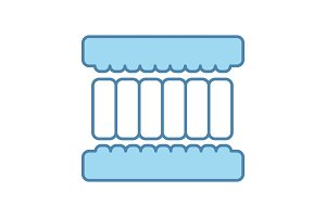 Mattress layers color icon