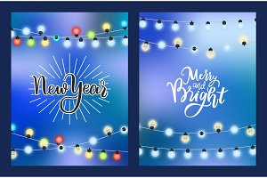 New Year Merry Bright Winter Holiday
