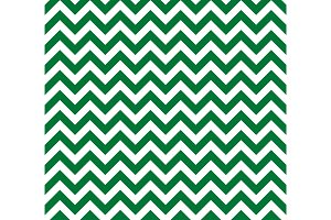 Green and white Zig zag seamless