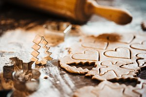 Christmas Baking Gingerbread Cutters