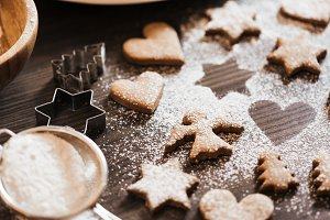 Christmas Baked Gingerbread Cookies