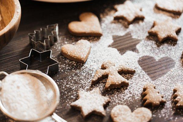 Holiday Stock Photos: Viktor Hanacek - Christmas Baked Gingerbread Cookies