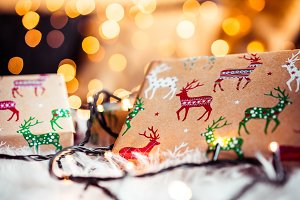 Christmas Bokeh and Presents