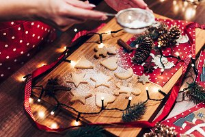 Preparing Christmas Gingerbread