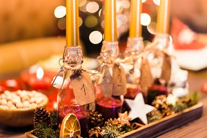 Christmas Advent Candles #1