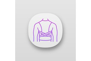 Posture corrector app icon